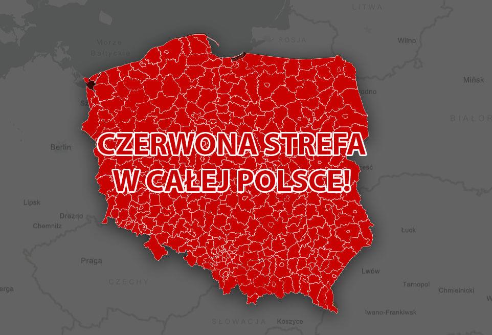 """Уся Польща – """"червона"""": нові правила та обмеження - UniverPL"""